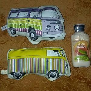 Other - VW busses, vans set of 2 mini decorative pillows